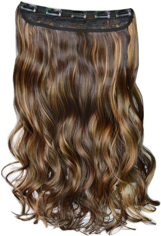 Kabello Premium Synthetic Dark brown Highlighting Hair Extension