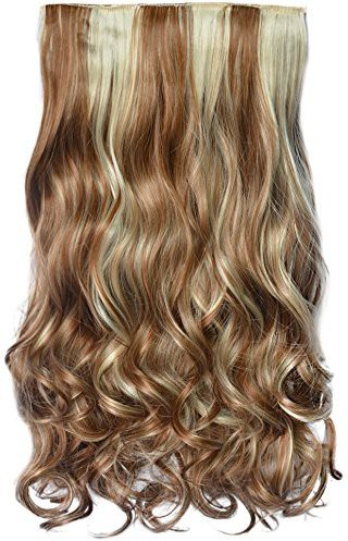 Majik Made of premium quality Light brown highlighting Hair Extension