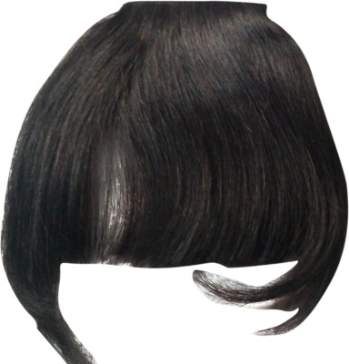 Wig-O-Mania Human  Fringe with inside Band Natural Black Hair Extension