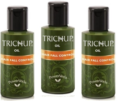Trichup Ayurvedic Hair Fall Control Oil Combo Pack of 3 Hair Oil