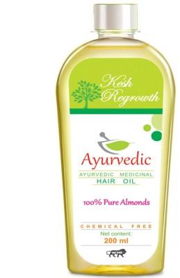 Kesh Regrowth Pure Almonds Ayurvedic medicinal  Hair Oil(200 ml)