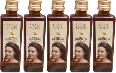 Khadimauri Maha Bhringraj Pack of 5 Herbal Ayurvedic 100 ml each Hair Oil