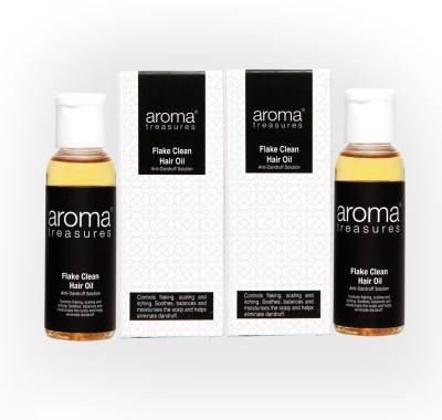 Aroma Treasures Flake Clean Hair Oil (Anti Dandruff) Oil 50ml (Pack Of 2) Hair Oil