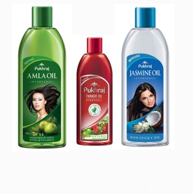 PUKHRAJ Amla, Thanda and Jasmine Hair Oil