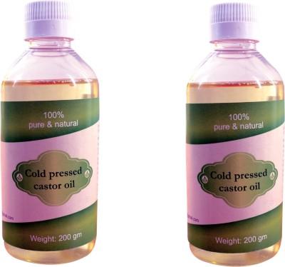 Royal Cold pressed castor oil pack of 2 Nos (200ml) Hair Oil