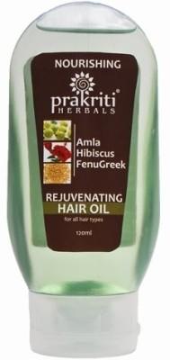 Prakriti Herbals Amla Hibiscus Fenugreek Nourishing  Hair Oil