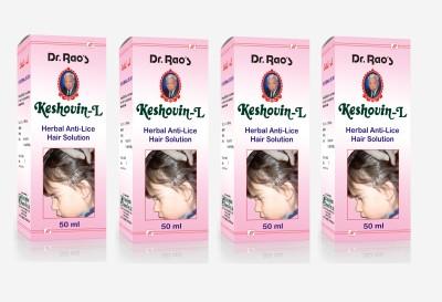 Dr.Rao's Keshovin-L(Anti-Lice)(50ml)(Pack Of 4) Hair Oil