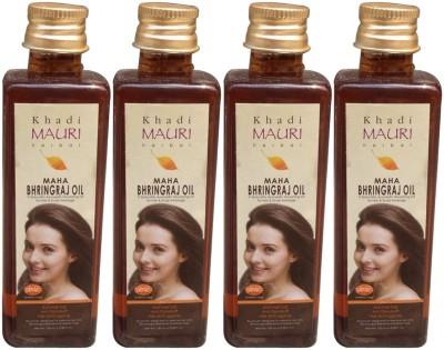Khadimauri Maha Bhringraj Pack of 4 Herbal Ayurvedic 100 ml each Hair Oil
