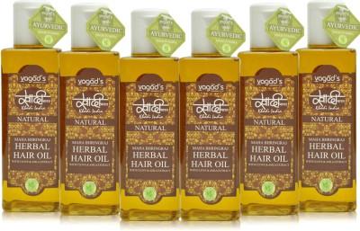 Khadi Natural Maha Bhringraj OiL [pack of SIX] Hair Oil
