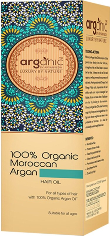 Aryanveda Organic Moroccan Argan  Hair Oil(100 ml)