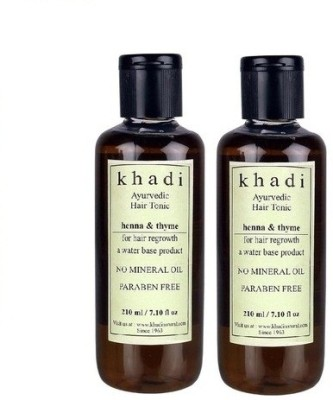 khadi Natural Ayurvedic Hair Regrowth Tonic - Henna & Thyme (Paraben Free) Hair Oil