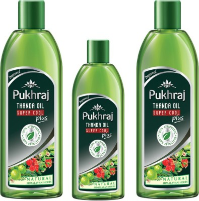 PUKHRAJ Pack of 3 Super Cool Plus Hair Oil