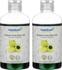 Healthbuddy Herbal Brahmi Amla 2 Packs Of 200 Ml Each Hair Oil