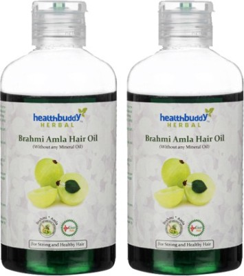 Healthbuddy Herbal Brahmi Amla 2 Packs Of 200 Ml Each Hair Oil