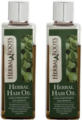Herbal Roots Anti Hairfall, Dandruff Control and Damage Repair Treatment Hair Oil