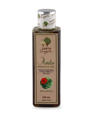 Earth Organic Hibiscus Amla Oil 100ml Hair Oil