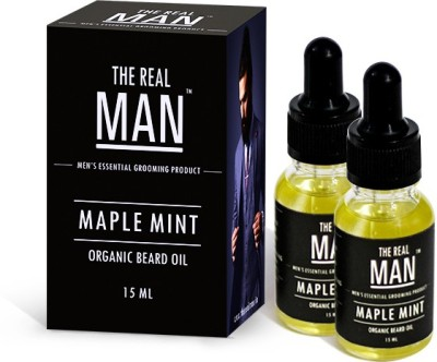 The RealMan Organic Beard Oil Maple Mint Pack of 2 Hair Oil