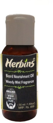 Herbins Beard Nourishment - Woody Mint Hair Oil