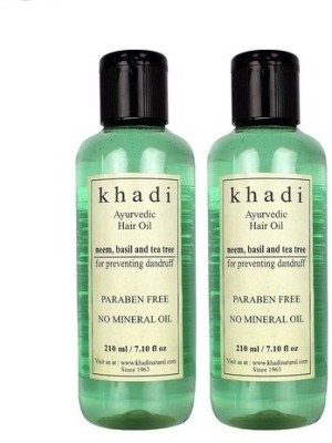khadi Natural Neem, Basil & Tea Tree Hair Oil (Paraben Free) Hair Oil