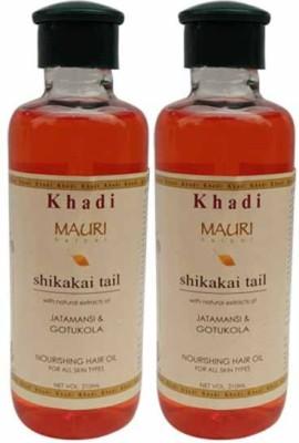 Khadimauri Shikakai Hair Oil Pack of 2 Herbal Ayurvedic & Natural 210 ml each Hair Oil
