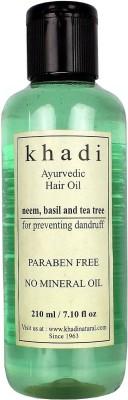 khadi Natural Anti Dandruff Ayurvedic with Neem, Basil & Tea Tree (Paraben Free) Hair Oil