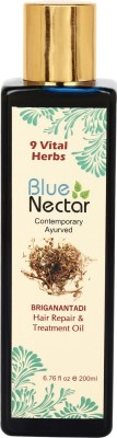 Blue Nectar Briganantadi Herbal for Premature Greying Anti Dandruff Repair Regrowth Ayurvedic Hair Oil