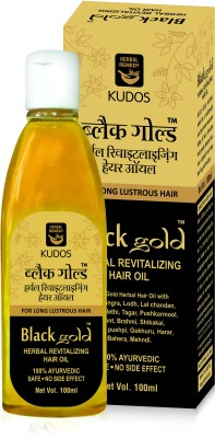 Kudos Black Gold Herbal Revitalizing Hair Oil