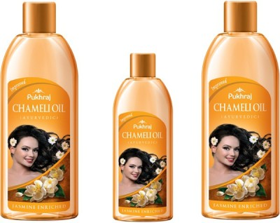 PUKHRAJ Pack of 3 Chameli Hair Oil
