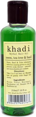KHADI HERBALS Neem,Tea Tree & Basil Hair Oil