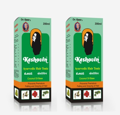 Dr.Rao's Keshovin(Herbal Hair Oil)(Pack Of 2) Hair Oil