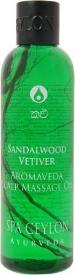 Spa Ceylon Luxury Ayurveda Sandalwood Vetiver Scalp Massage Hair Oil