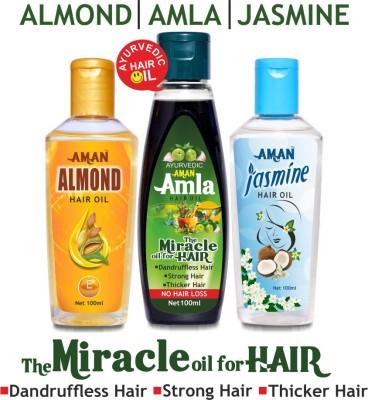 Aman Jasmine Amla Almond Trio Hair Oil