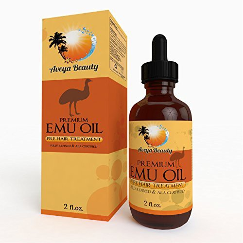 Aveya Beauty Effective Emu Oil on Amazon! Premium Quality, 100% Pure, Safe & Natural with Real Results! Smooth Scars, Promote Hair Growth, Healthy Vibrant Skin, Anti-aging, Muscle & Joint, and More! AEA Certified, Easy, Try Risk Free! 2oz Hair Oil(59.14 ml)