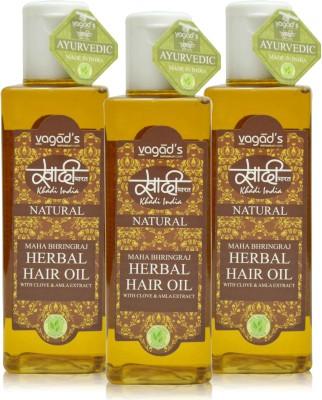 Khadi Natural Maha Bhringraj OiL [pack of THREE] Hair Oil