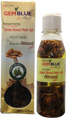 Biocare Gem Blue, Forest Herbs, Shine Boost, Blended With Almond Hair Oil