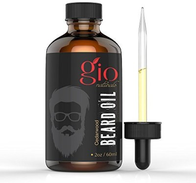 Gio Naturals Naturals Beard Oil & Leave-In Conditioner 2oz (New Cedarwood Scent) Eliminates Itching and Dandruff while Treating Acne and Oily Skin- Best for Grooming & Growth - Moisturizes Beard Hair and Skin Hair Oil(59.14 ml)