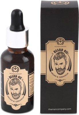 The Man Company Beard Oil- Argan & Geranium Hair Oil