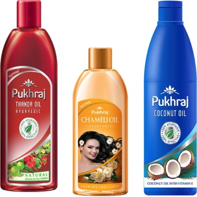 PUKHRAJ Thanda, Chameli and Coconut Hair Oil