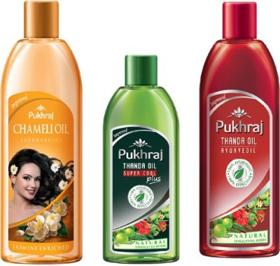 PUKHRAJ Chameli, Super Cool and Thanda Hair Oil