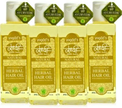 Khadi Natural Anti-Dandruff Oil [pack of FOUR] Hair Oil
