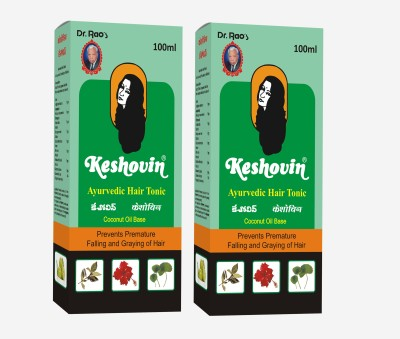 Dr.Rao's Keshovin(Herbal Hair Oil)(100ml)(Pack Of 2) Hair Oil