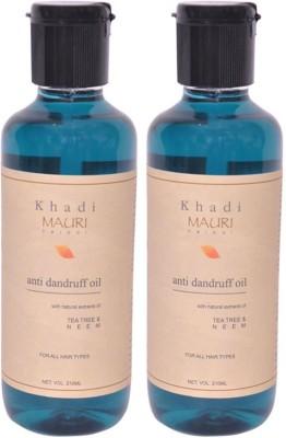 Khadimauri Anti Dandruff Hair Oil Pack of 2 Herbal Ayurvedic Natural 210 ml each Hair Oil