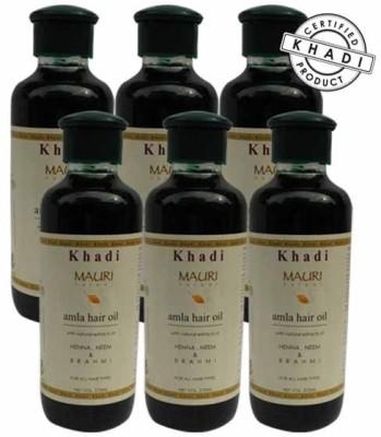 Khadimauri Amla Hair Oil - Pack of 6 - Premium Natural Hair Oil