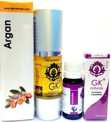 GK Naturals Argan Premium & Lavender Essential Combo Hair Oil