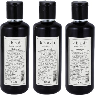 Khadi Herbal Bhringraj Oil (Tripack) Hair Oil