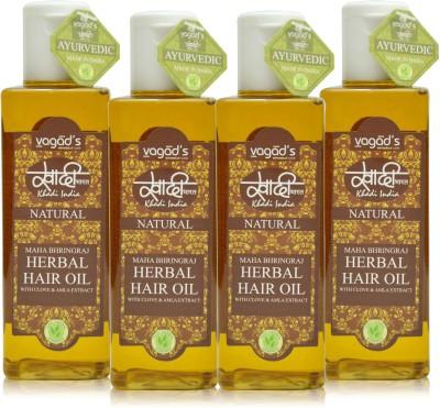 Khadi Natural Maha Bhringraj OiL [pack of FOUR] Hair Oil