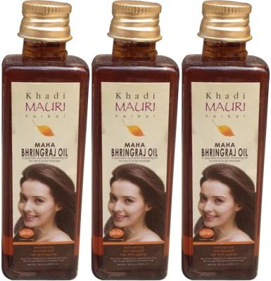 Khadimauri Maha Bhringraj Pack of 3 Herbal Ayurvedic 100 ml each Hair Oil