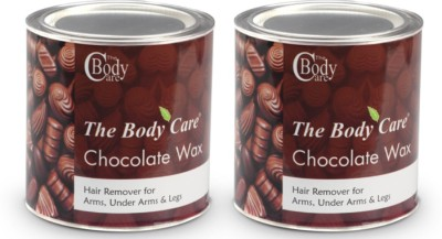 the body care chocolate hot wax 600g pack of 2
