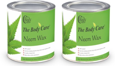 the body care neem hot wax 600g pack of 2