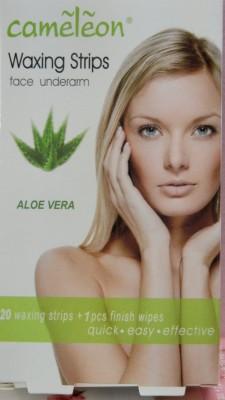 Cameleon Waxing Strips face underArm Aloe Vera flavor
